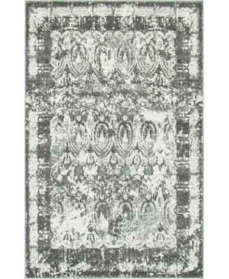 Mishti Mis3 Gray 8' x 8' Round Area Rug