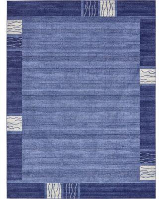 Lyon Lyo1 Navy Blue 8' x 11' 4