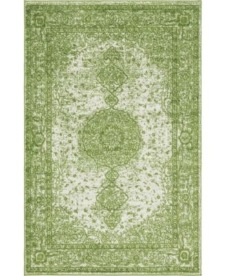 Mobley Mob1 Green 5' x 5' Round Area Rug