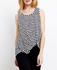 COIN 1804 Womens Stripe Twist Tank Top