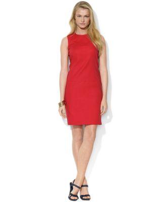 Lauren Ralph Lauren Petite Dress, Sleeveless Crew-Neck Shift