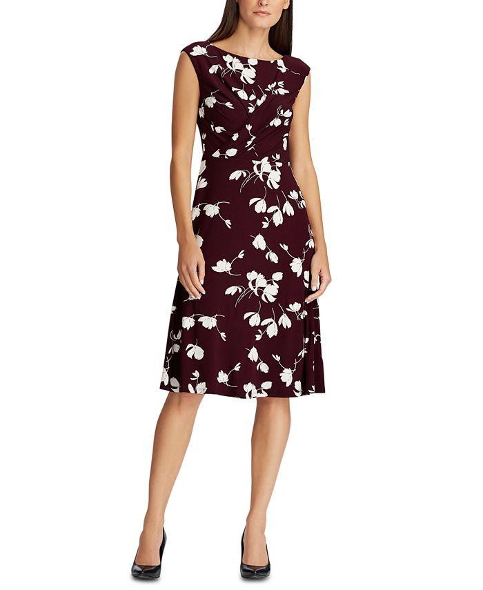 Lauren Ralph Lauren - Floral Pleated Jersey Dress
