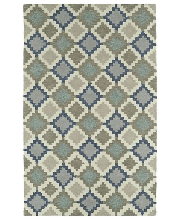 "Kaleen Lakota LKT06-10 Denim 3'6"" x 5'6"" Area Rug"