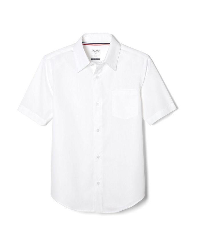 Husky Boys Short Sleeve Dress Shirt with Expandable Collar