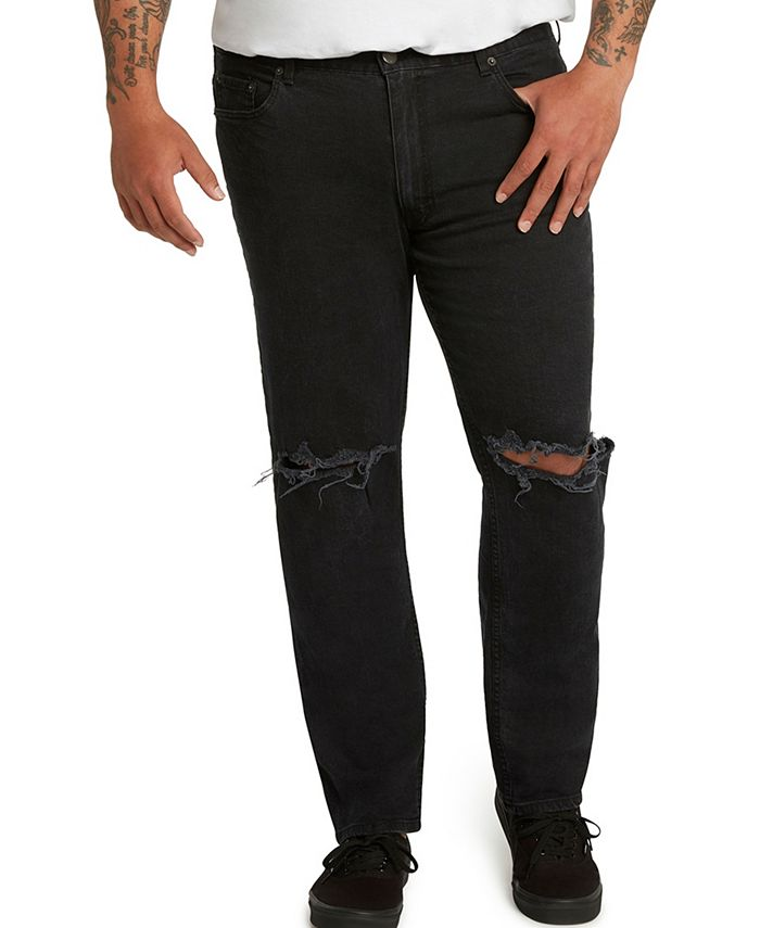 Mvp Collections By Mo Vaughn Productions - MVP Collections Athletic-Fit Slit Knee Stretch Jeans