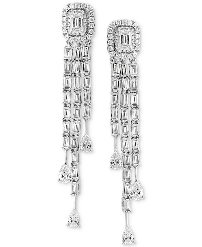 EFFY Collection - Diamond Dangle Drop Earrings (2-1/10 ct. t.w.) in 18k White Gold
