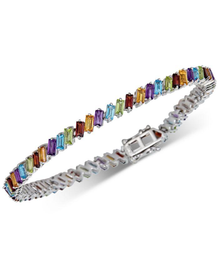 Macy's Multi-Stone Bracelet (9 ct. t.w.) in Sterling Silver & Reviews - Bracelets - Jewelry & Watches - Macy's