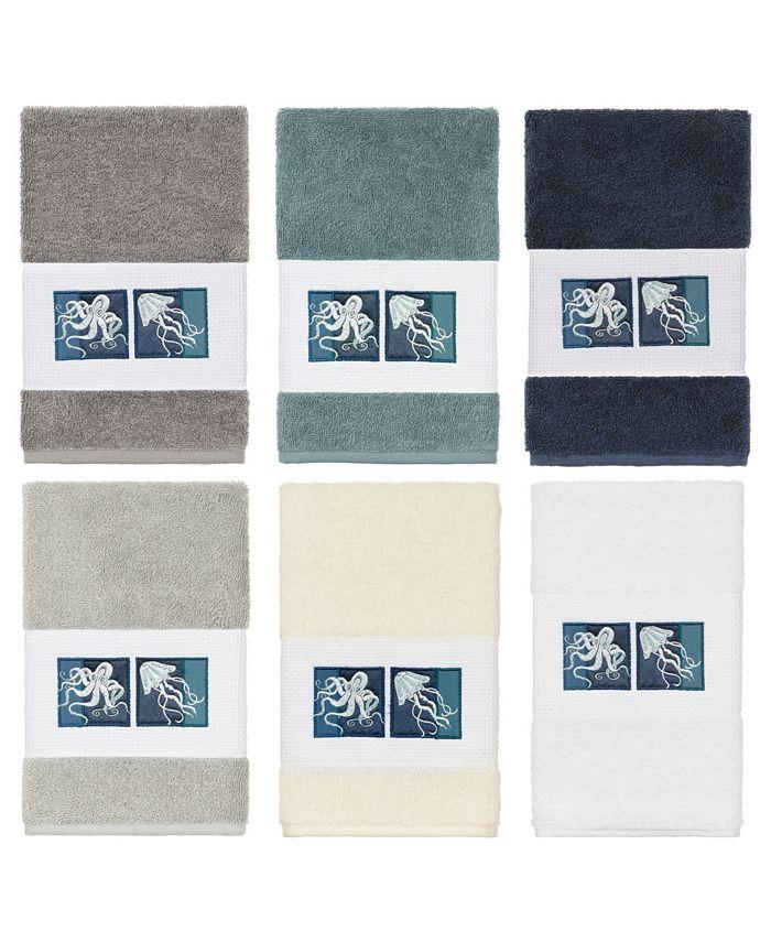 Linum Home - 100% Turkish Cotton Ava Embellished Hand Towel