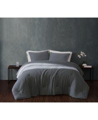 CLOSEOUT! Color Block Jersey Twin Extra Long Comforter Set