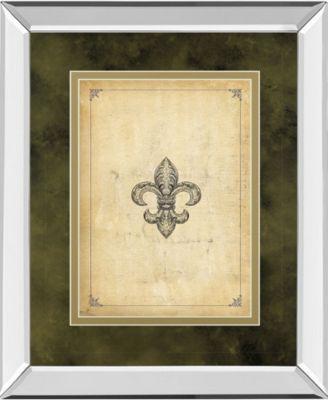 "Fleur Di Lies II by Alexey Paviuts Mirror Framed Print Wall Art - 34"" x 40"""