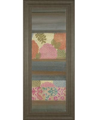 "Pretty in Pink IV by Willie Green-Aldridge Framed Print Wall Art - 18"" x 42"""