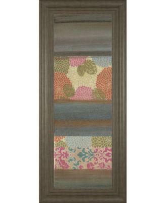 """Pretty in Pink III by Willie Green-Aldridge Framed Print Wall Art - 18"""" x 42"""""""