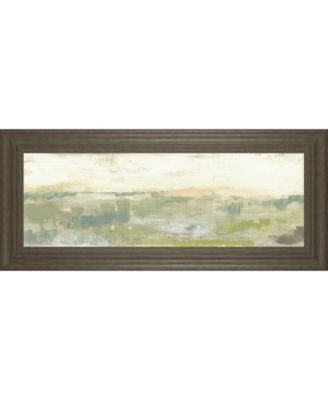 "Greenery Horizon Line II by Jennifer Goldberger Framed Print Wall Art - 18"" x 42"""