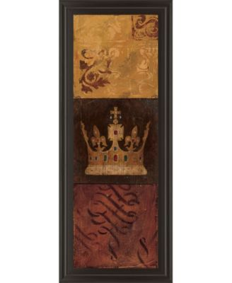 "Regal Panel I by Avery Tillmon Framed Print Wall Art - 18"" x 42"""