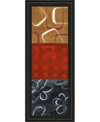 """Euclidean Space Il by Tava Luv Framed Print Wall Art - 18"""" x 42"""""""