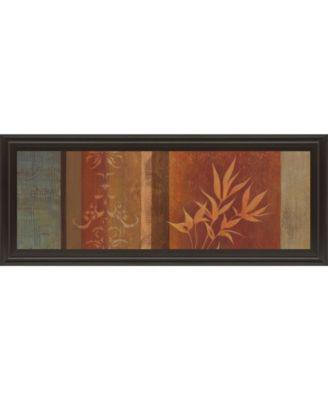"""Leaf Silhouette Il by Jordan Grey Framed Print Wall Art - 18"""" x 42"""""""