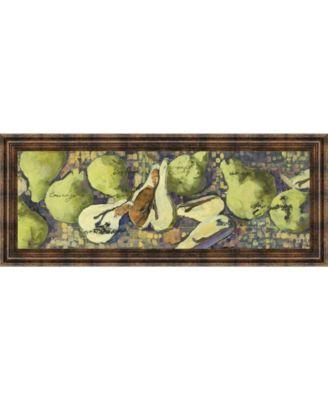 "Sparkling Pears Il by Silvia Rutledge Framed Print Wall Art - 18"" x 42"""