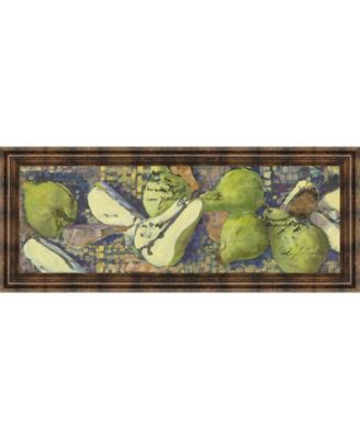 "Sparkling Pears I by Silvia Rutledge Framed Print Wall Art - 18"" x 42"""