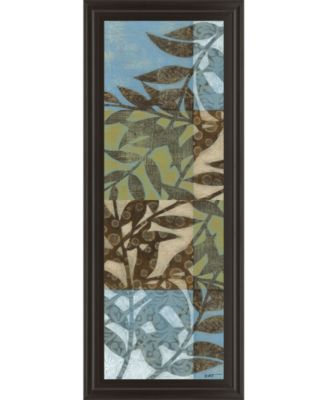 """Leaves Il Framed Print Wall Art - 18"""" x 42"""""""