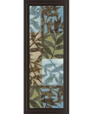 "Leaves I Framed Print Wall Art - 18"" x 42"""