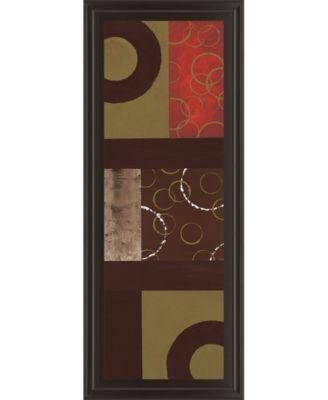 "Mix N' Match I by Earl Kaminsky Framed Print Wall Art - 18"" x 42"""