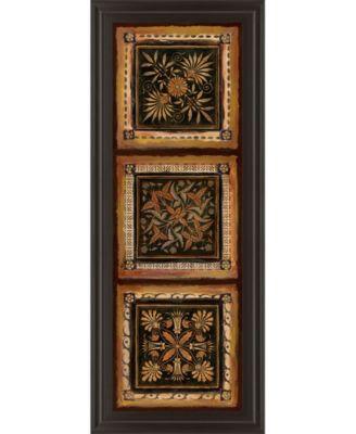 "Folk Art Panel I by Tava Studios Framed Print Wall Art - 18"" x 42"""