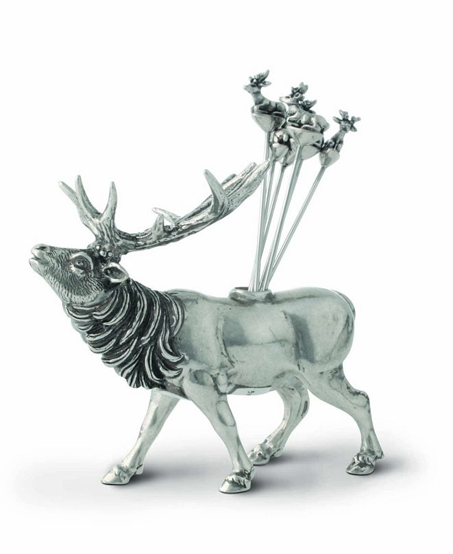 Vagabond House Elk Pewter Cheese Pick Set - Set of 6