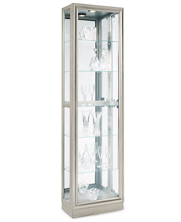 Platinum Curio Cabinet Side Entry Furniture Macy S