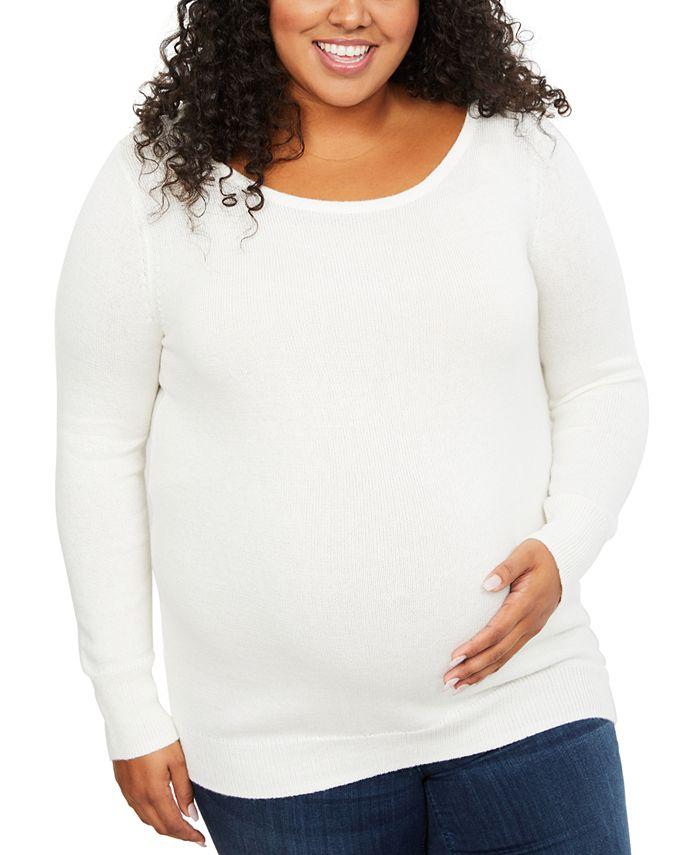 Motherhood Maternity - Maternity Back Interest Sweater