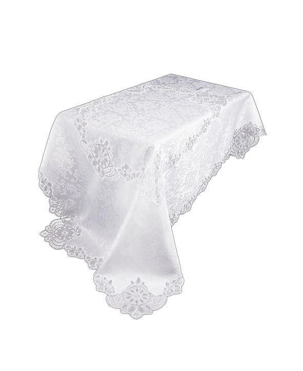 """Xia Home Fashions Antebella Lace Embroidered Cutwork Tablecloth, 72"""" x 120"""""""