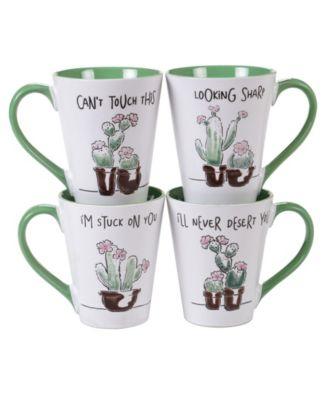 Certified International Desert Bloom 4-Pc. Mugs
