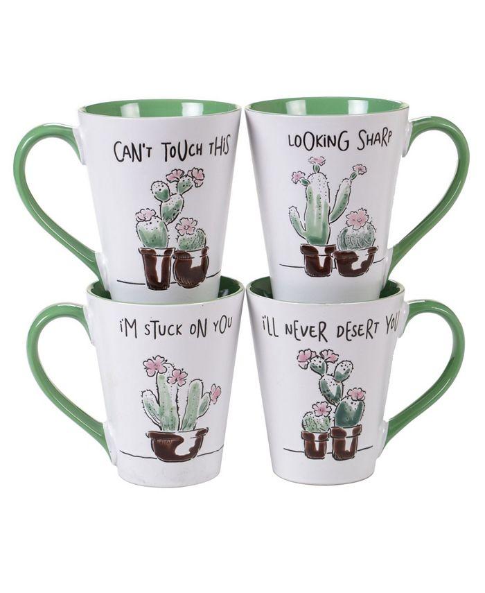 Tracy Porter - Desert Bloom 4-Pc. Mugs