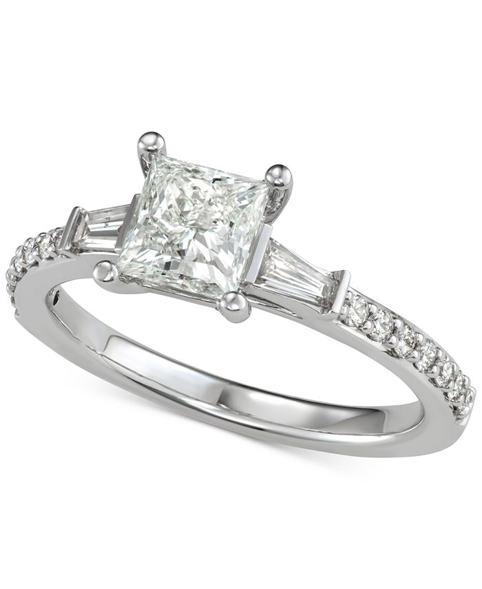 Macy's - Diamond Princess Engagement Ring (1 ct. t.w.) in 14k White Gold
