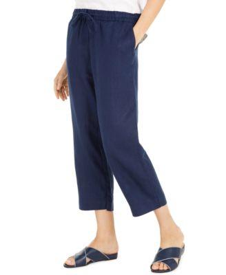 Linen Capri Tie-Waist Pants, Created for Macy's