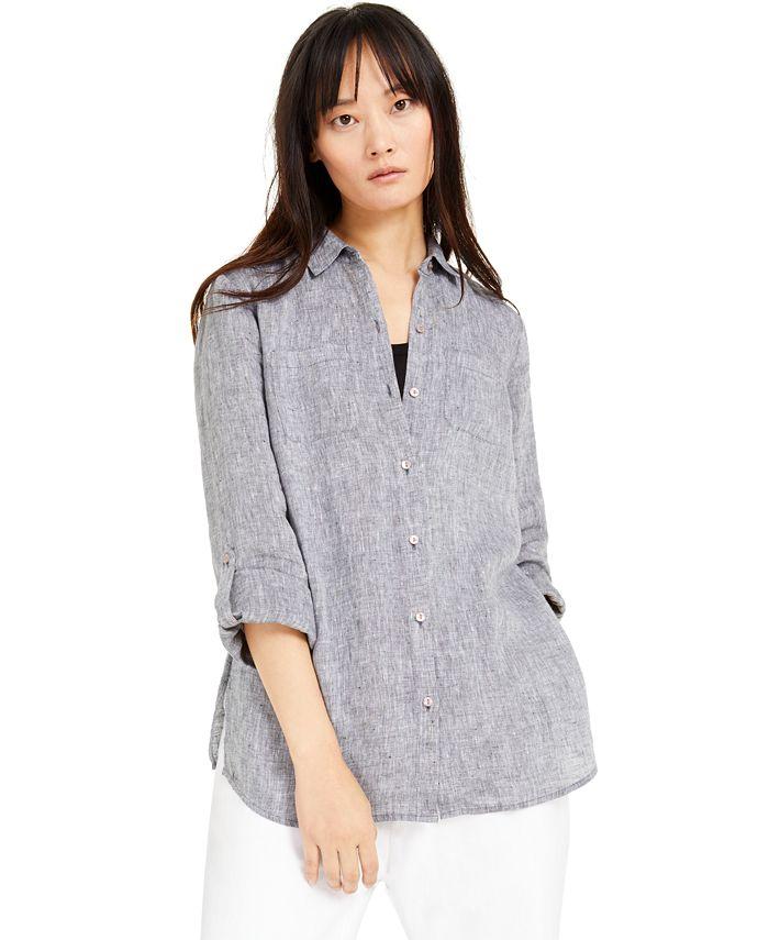 Charter Club - Linen Button-Front Shirt