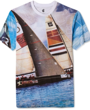 Rocawear Short Sleeve Shirt Roc Sailboat Crew Neck Shirt