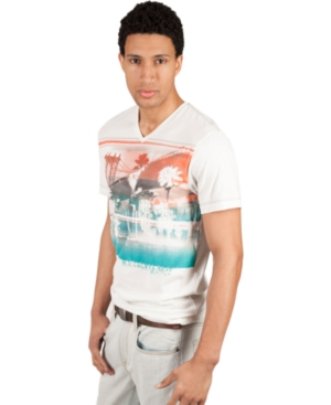 Marc Ecko Cut  Sew Shirts Short Sleeve East Meets West Graphic T Shirt