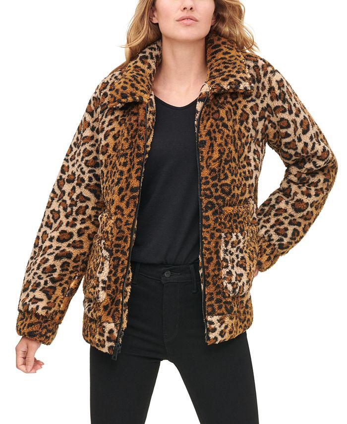 Levi's - Leopard-Print Sherpa Jacket