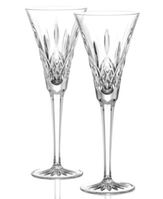 Waterford Stemware, Lismore Toasting Flutes, Set of 2