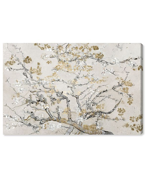 "Oliver Gal Van Gogh in Gold Blossoms Inspiration Light Canvas Art, 24"" x 16"""