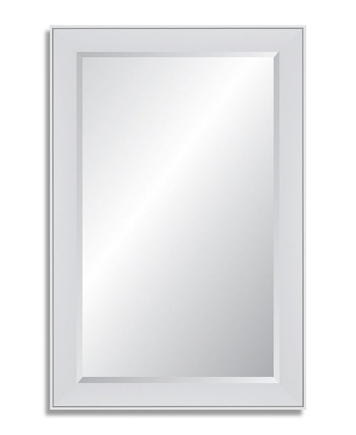 Reveal Frame & Décor - Polar White Beveled Wall Mirror