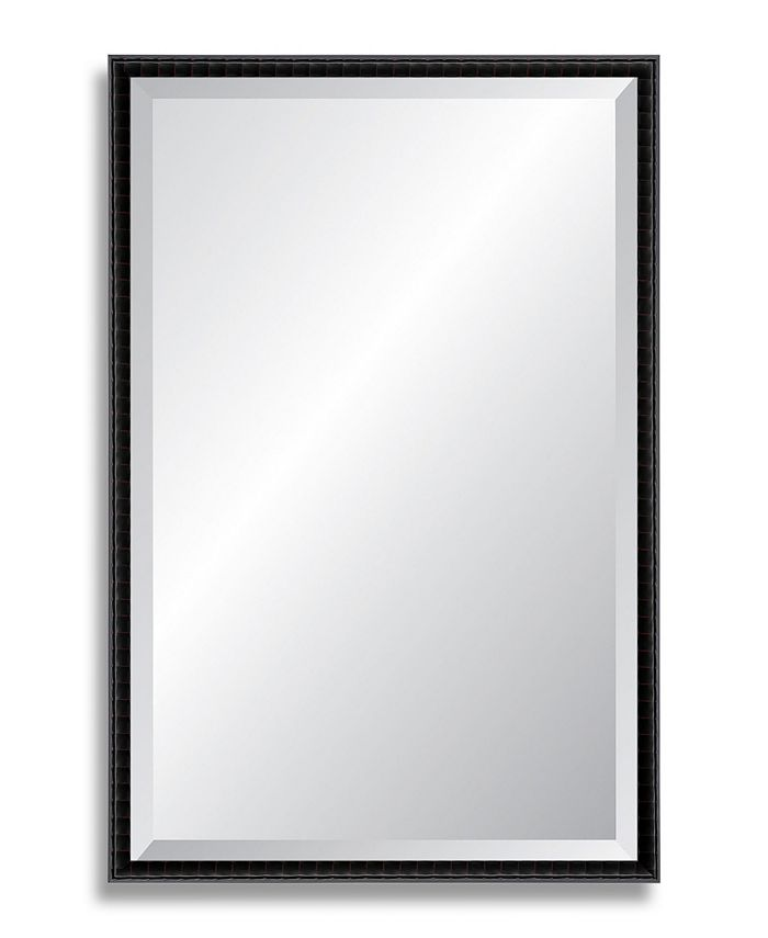 Reveal Frame & Décor - Black Bamboo Beveled Wall Mirror