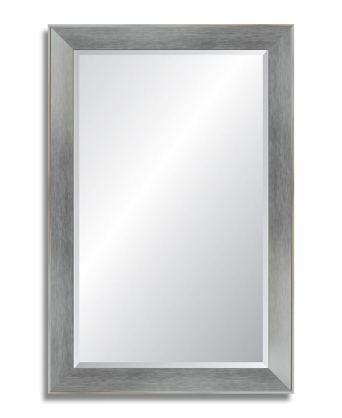 Reveal Frame & Décor - Brushed Chrome Beveled Wall Mirror