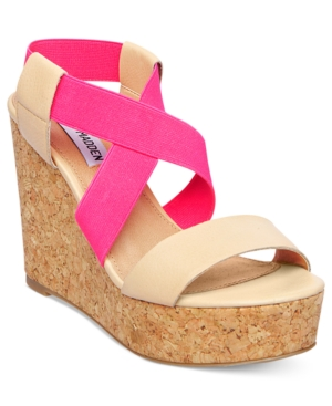 Steve Madden Womens Shoes Terorr Platform Wedge Sandals Womens Shoes