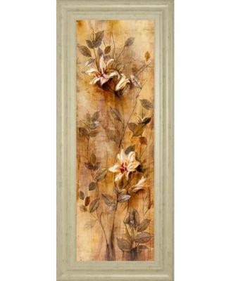 "Candlelight Lilies II by Douglas Framed Print Wall Art, 18"" x 42"""