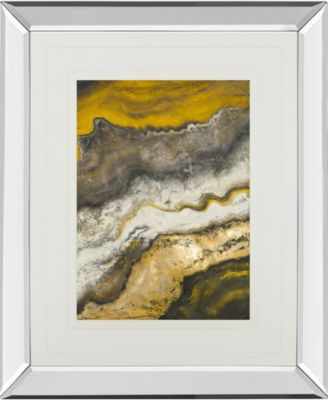 """Lava Flow II by Patricia Pinto Mirror Framed Print Wall Art, 34"""" x 40"""""""