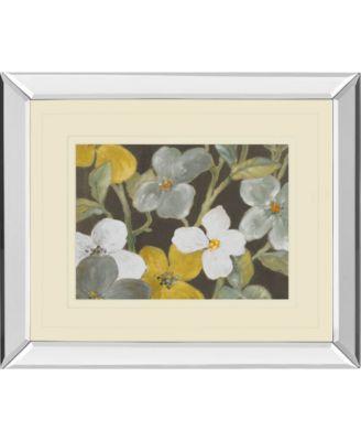 "Garden Party in Gray 1 by Lanie Loreth Mirror Framed Print Wall Art, 34"" x 40"""
