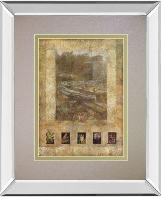 "Botany Journal I by Kemp Mirror Framed Print Wall Art, 34"" x 40"""