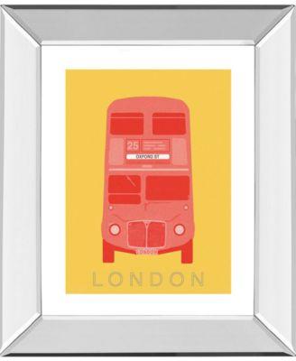 London Transport 3 by Ben James Mirror Framed Print Wall Art, 22