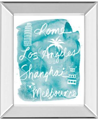 "Sightseeing II by Lottie Fontaine Mirror Framed Print Wall Art, 22"" x 26"""
